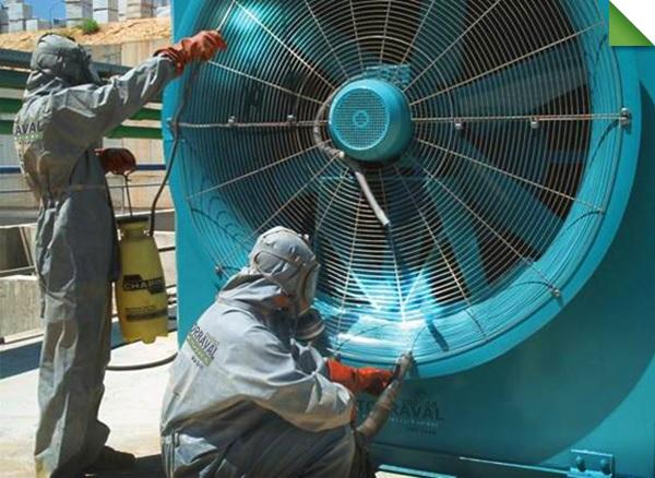 desinfección y limpieza de torres de refrigeración