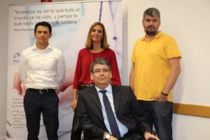 Óscar Ramírez, Inés Venero, Miguel Gómez y, en primer plano, Carlos A Ramírez Soto