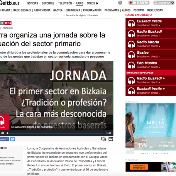 Lorra en Radio Euskadi